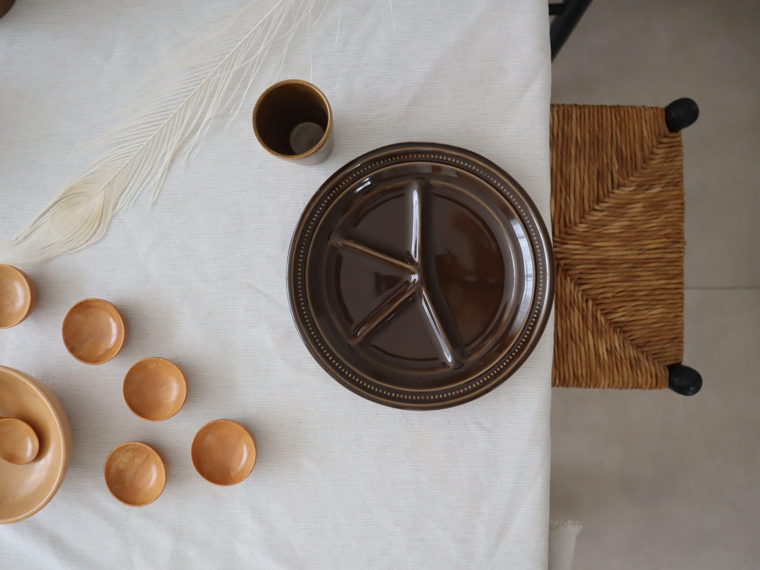 Tafelservies vintage, maar op een moderne manier gestyles