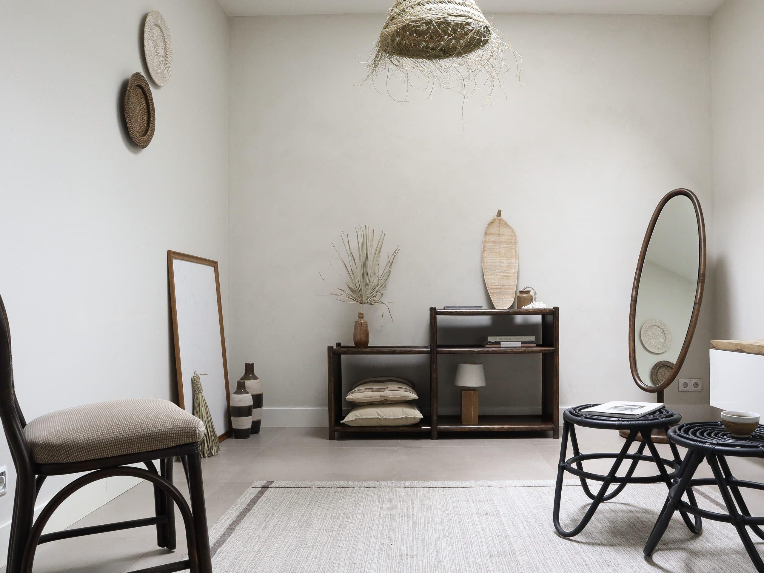Herfstproof interieur in bruin tinten en natuurlijke materialen met Bohemian touch